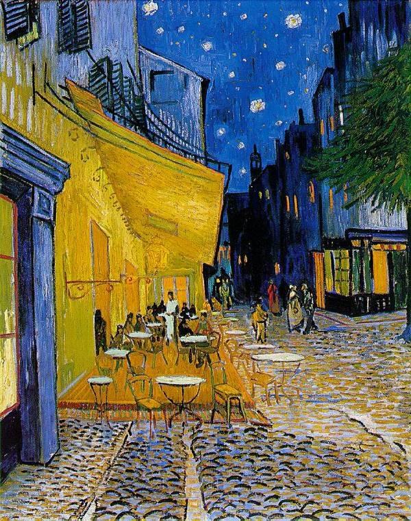 A Cafe Terrace at Night, Vincent  van Gogh